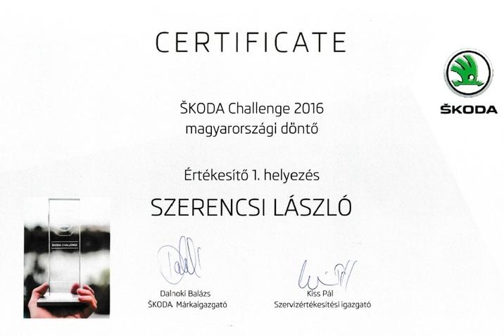 Szerencsi László - Skoda Challenge 1. hely magyarországi döntő